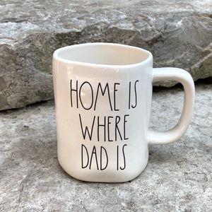 Rae Dunn HOME IS WHERE DAD IS Ceramic Mug